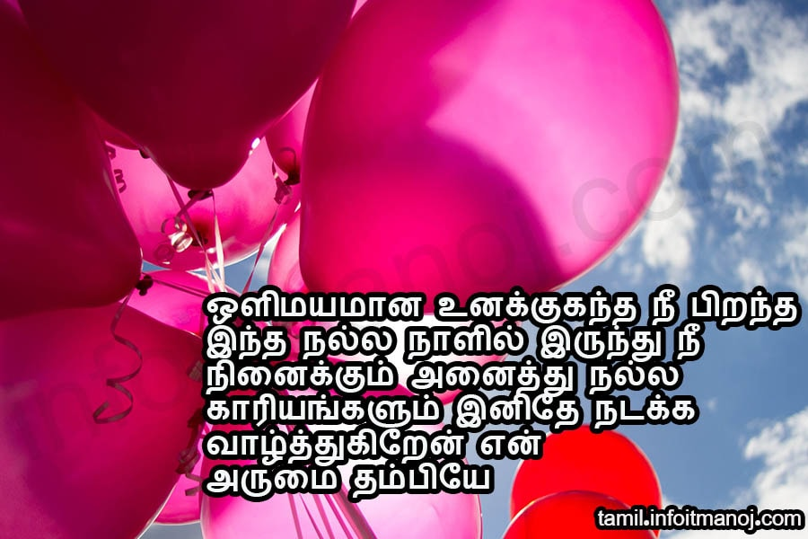 sagotharan anna thambi pirantha naal vaazhthukkal kavithai,birthday wishes for brother in tamil