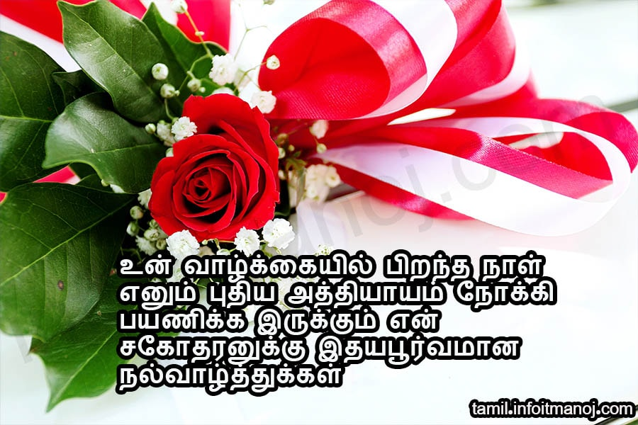Sagotharan Anna Thambi Pirantha Naal Tamil Birthday Wish Vaazhthukkal Tamil Kavithaigal Growing up with someone like you by my side is the greatest blessing in my life. tamil birthday wish vaazhthukkal